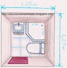 Resultado de imagen para medidas minimas de un baño