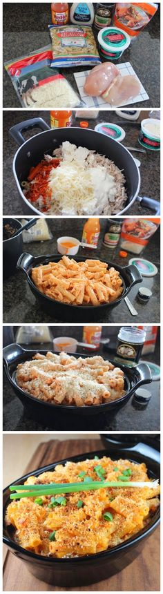 Buffalo Chicken Baked Pasta