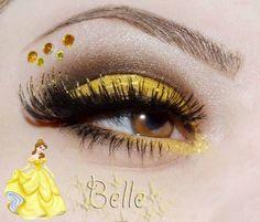Disney Princess make up: Belle The Beauty Shop in 2019 Disney eye makeup cartoon - Eye Makeup Disney Eye Makeup, Disney Inspired Makeup, Belle Makeup, Disney Princess Makeup, Eye Makeup Art, Princess Belle, Cartoon Makeup, Beauty Make-up, Beauty Shop