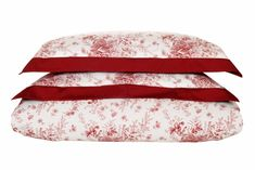 """PrintDuvet Setsinclude 2 Pillow Shams and 1 Duvet Cover About our FilomenaPrint Set The Filomena print set was designed using flowers as inspiration using red and white color combinations. The set is designed and woven in Italy using 100% Egyptian Cotton -340 Thread Count giving it a smooth, soft and a subtle shine to it.   ×     Type 2 Pillow Shams (W x L) Duvet Cover (W x L)     Standard King 21"""" x 32"""" + 2"""" Flap51 x 81 + 5 cm  106"""" x 94""""270 x 240 cm    Queen... Red Bedding, Linen Bedding, Bed Covers, Duvet Cover Sets, Egyptian Cotton Duvet Cover, Luxury Bedding Sets, Mixing Prints, Bed Pillows, Pillow Shams"""