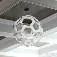 Make your own Sphere paper lamp  DIY decoration  Pendant