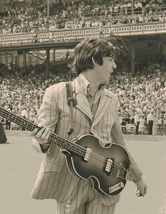 Paul McCartney Beatles Going on Stage Cincinnati 1966