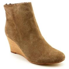 $24, Halsie Brown Suede Fashion Ankle Boots by NYLA. Sold by buy.com. Click for more info: http://lookastic.com/women/shop_items/86229/redirect