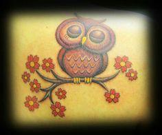 Tattooed by Peter! #centralbodyart #tbay #tbaytattoo #colourtattoo #owltattoo #tattoo #inked