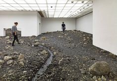 For his first solo exhibition at Denmark's Louisiana Museum of Modern Art, Danish-Icelandic artist Olafur Eliasson has filled an entire wing with a landscape of stones meant to emulate a riverbed