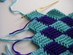 sew ritzy~titzy: entrelac tunisian crochet blocks