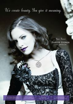 Phillip Stoner the Jeweller AW10 Campaign, featuring the Diamond Set Snowflake Pendant.