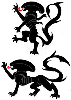 Coat of Arms Xenomorph. I'm gotta use this for something.