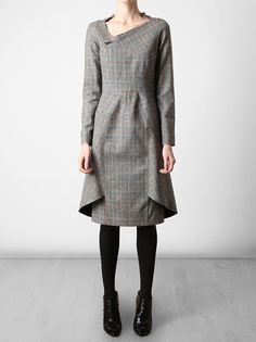 ROLAND MOURET  Prince of Wales checked wool dress