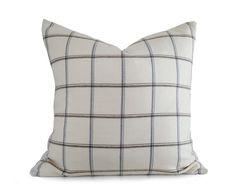 ee2a28a1d35 Cream Plaid Pillow Cover Neutral Cushion by PillowThrowDecor