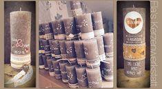 Jede Kerze ist ein Unikat! Zur Gestaltung meiner Kerzen benutze ich keine vorgedruckten Buchstaben, Zahlen oder Motive. Keine Drucke oder Stanzer!
