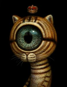 "Pop surealism tattoo, Naoto Hattori | Previews: Naoto Hattori – ""Nothing But Perception"", cyclops cat"
