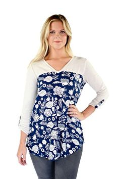 Hatley Womens Mixed Media Blouse Navy Field Flowers Blouse MD >>> For more information, visit image link.