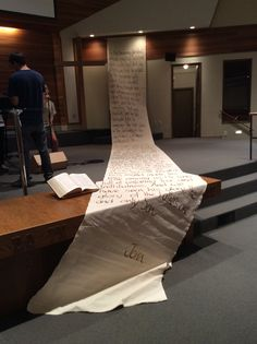 Yes...I know I was crazy enough to do a 36 foot banner for a series on the Gospel of John. I got to verse 14.