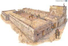 Presidio español de Tubac (Arizona) en 1755. http://www.elgrancapitan.org/foro/viewtopic.php?f=21&t=11680&p=896041#p896041
