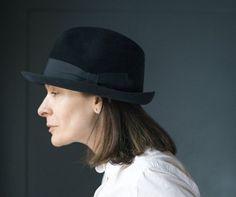 Black fedora unisex Mayser. Vintage trilby hat for men. Felt wool fedora  1970s. German men fedora retro. Vintage fashion women fedora gift 9a319c8c8c0a