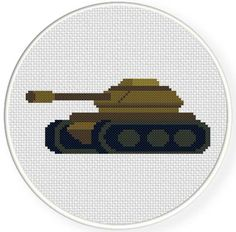 Army Tank Cross Stitch Pattern