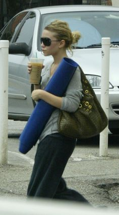 Ashley Olsen | 43 Celebrities Who Swear By Yoga | Loved and pinned by www.downdogboutique.com