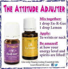 Young Living Essential Oils: Attitude Adjuster - En-R-Gee and Lemon https://www.youngliving.com/vo/#/signup/start?sponsorid=3371890&enrollerid=3371890&type=member