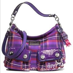 Coach Poppy Purple Band And Wallets Bundle
