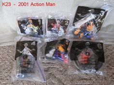 2001 MCDONALDS HAPPY MEAL COMPLETE SET ACTION MAN GI JOE TOYS COOL LOT AWESOME !!!!  ANOTHER BUY IT NOW ITEM!!!!!