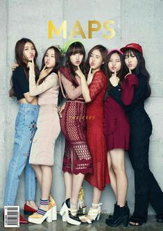 Trendy rookie group G-Friend can be seen in the pages of fashion magazine 'MAPS'! Pictures dropped on September 23 show that the group will be the cov… Kpop Girl Groups, Korean Girl Groups, Kpop Girls, K Pop, Korean Celebrities, Celebs, Ulzzang, Moda Pop, G Friend