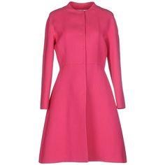 Valentino Full-length Jacket ($1,020) ❤ liked on Polyvore featuring outerwear, jackets, fuchsia, multi pocket jacket, long sleeve jacket, single breasted jacket, full length jacket and valentino jacket