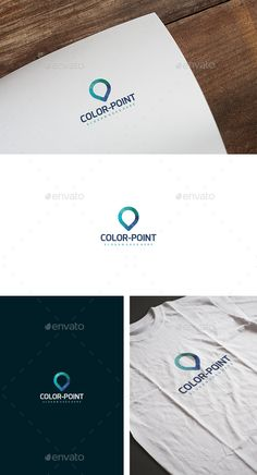 Color Point Logo — Vector EPS #logo product #color logo • Available here → https://graphicriver.net/item/color-point-logo/13730469?ref=pxcr