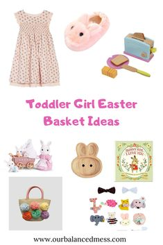 Practical Toddler Easter Basket Ideas - Our Balanced Mess Easter Baskets For Toddlers, Easter Gift Baskets, Toddler Play, Toddler Girls, Big Chocolate, Bunny Slippers, Basket Ideas, Bottle Crafts, Our Kids