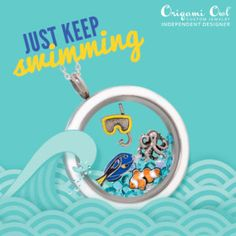 Look at these adorable #fish charms for your #OrigamiOwl summer locket! Available June 1st! Just keep swimming...