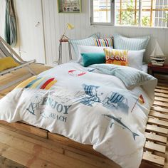 coastal bed covers | ... Lifes A Beach Quilt Cover & Pillowcase Set Single Bed from $116.96