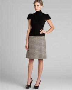 Valentino Roma Black Multi Woven Skirt