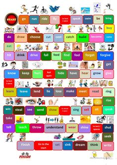 Board game irregular verbs Games For English Class, English Worksheets For Kids, English Activities, Verb Worksheets, Printable Worksheets, Free Printable, English Verbs, English Vocabulary, English Grammar Games