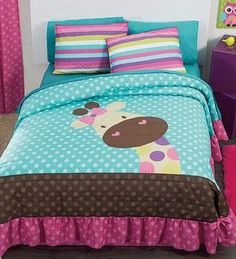 NEW Jirafa Teens Bedspread Set and Sheet Set (Full/Queen) -- Check this awesome product by going to the link at the image. Quilt Baby, Baby Quilt Patterns, Foto Quilts, Kids Bedding Sets, Comforter Set, Twin Sheet Sets, Applique Quilts, Baby Sewing, Bed Covers