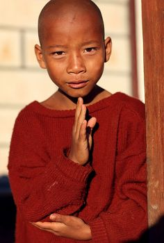Myanmar (Burma) | Young Buddhist novice in a monastery, Pa-O… | Flickr