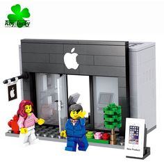 Apple Inc - City Series Mini Street Model Store Shop with Toy figure Waiter - Blocks