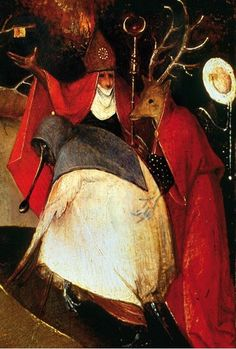 ritualcircle:    Hieronymus Bosch - The Temptation of St. Anthony (Detail)