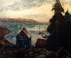 """Monhegan,"" Sidney Marsh Chase, oil on board, 25 x 30"", private collection."