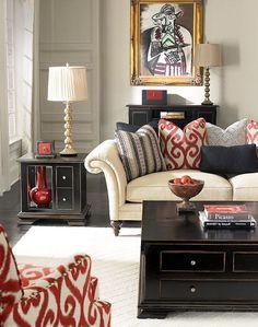 gri ve kirmizi dekorasyon fikirleri oturma odasi salon (3)