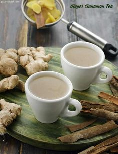40 Indian Tea Recipes, Collection of Chai Recipes, Tarla Dalal Tea Recipes, Indian Food Recipes, Healthy Recipes, Diabetic Recipes, Healthy Snacks, Chai Recipe, Recipe Ginger, Salt Recipe, Ginger Cinnamon Tea