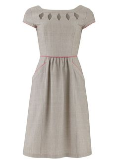 A different style for you, but what a versatile dress! And perfect for the pear shape. Great on its own for summer, then team with your bright tights and jumpers in winter.