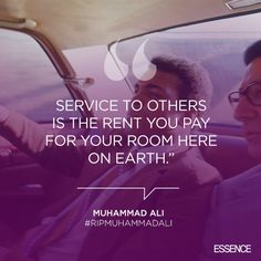 Get inspired with one of these inspring quotes from the greatest of all time, Muhammad Ali. #RIP    essence.com