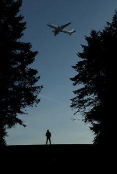 Man and Airplane. Kannika Holzhaus