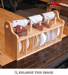 Bench top Sanding-Disc Caddy Woodworking Plan  - !!  anpassen an mein french cleat system !!