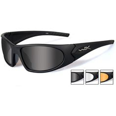 c557013e41 Wiley X Romer III Advanced Ballistic Safety Glasses Kit with Gloss Black  Frame and Smoke