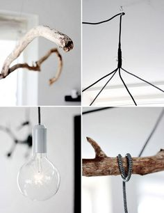 10 DIY Ceiling Fixtures to get this year Handmade Lamps, Handmade Home, Diy Luminaire, Driftwood Lamp, Diy Interior, Interior Design, Modern Interior, Light Project, Home And Deco