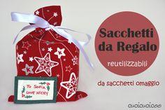 #DIY #Christmas #Box: Tutorial: Sacchetti da regalo reutilizzabili da sacchetti omaggio