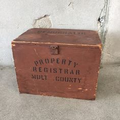 Vintage Democrat Polling / Voting Box – UrbanAmericana