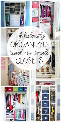 Toddler Closet Organization, Home Organization Hacks, Organizing Your Home, Bedroom Organization, Reach In Closet, Narrow Closet, Closet Hacks, Closet Ideas, Small Closets