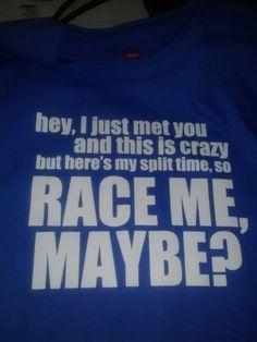 Cute running shirt idea!...I kinda really need this xD